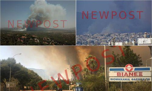 Μεγάλη φωτιά στη Βαρυμπόμπη: Παροδικές διακοπές κυκλοφορίας στην Εθνική Οδό, εκκενώθηκε κατασκήνωση - πράσινος τύπος